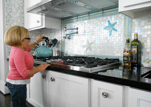 TLC's Jennifer Arnold from Little Couple with her BlueStar Cooktop